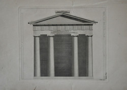 Architectural Temple Front