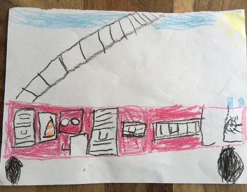 Bild 2 gemalt von Julius (6 Jahre)