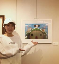 似顔絵イラストレーターやましたまほ HIRAKU パリ paris 東京