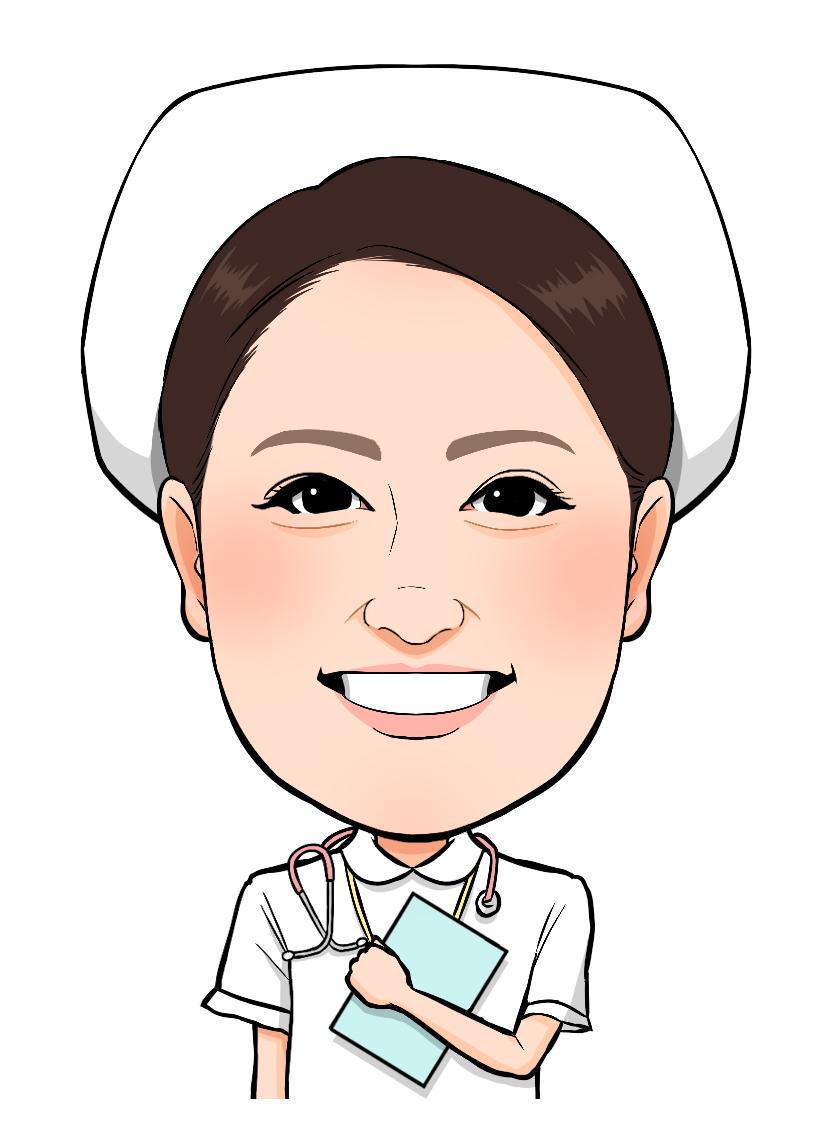 似顔絵 イラストレーター やましたまほ 看護師 ナース