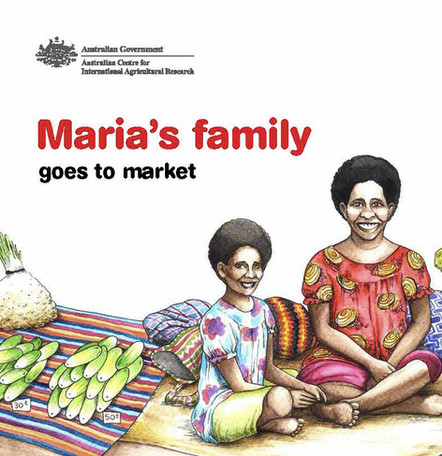 Maria Goes to Market, Children's Book Illustration (Cover)