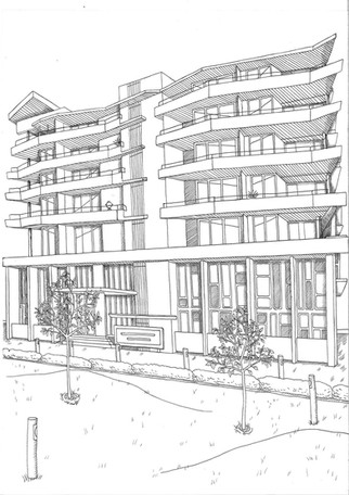 Architectural Illustration for DHA