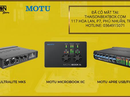MOTU - Soundcard Chạy Nhất Cập Bến 3 Mẫu Mới