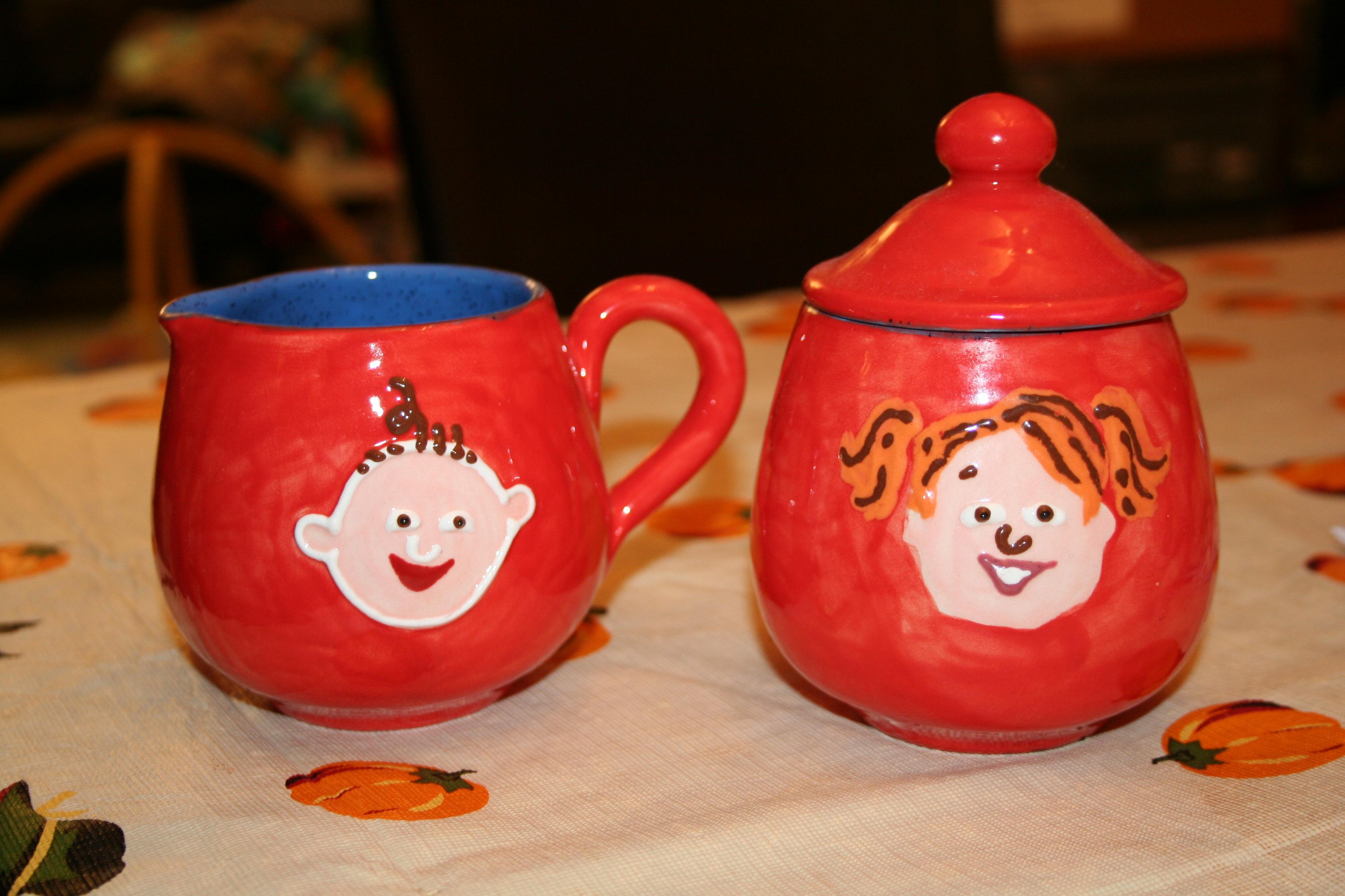 Gillotti Creamer & Sugar Bowl