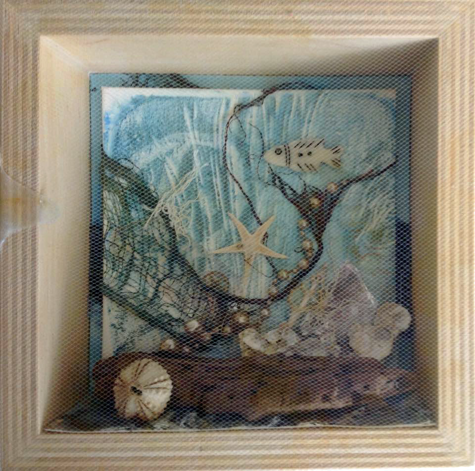Sea Shore Shadow Box