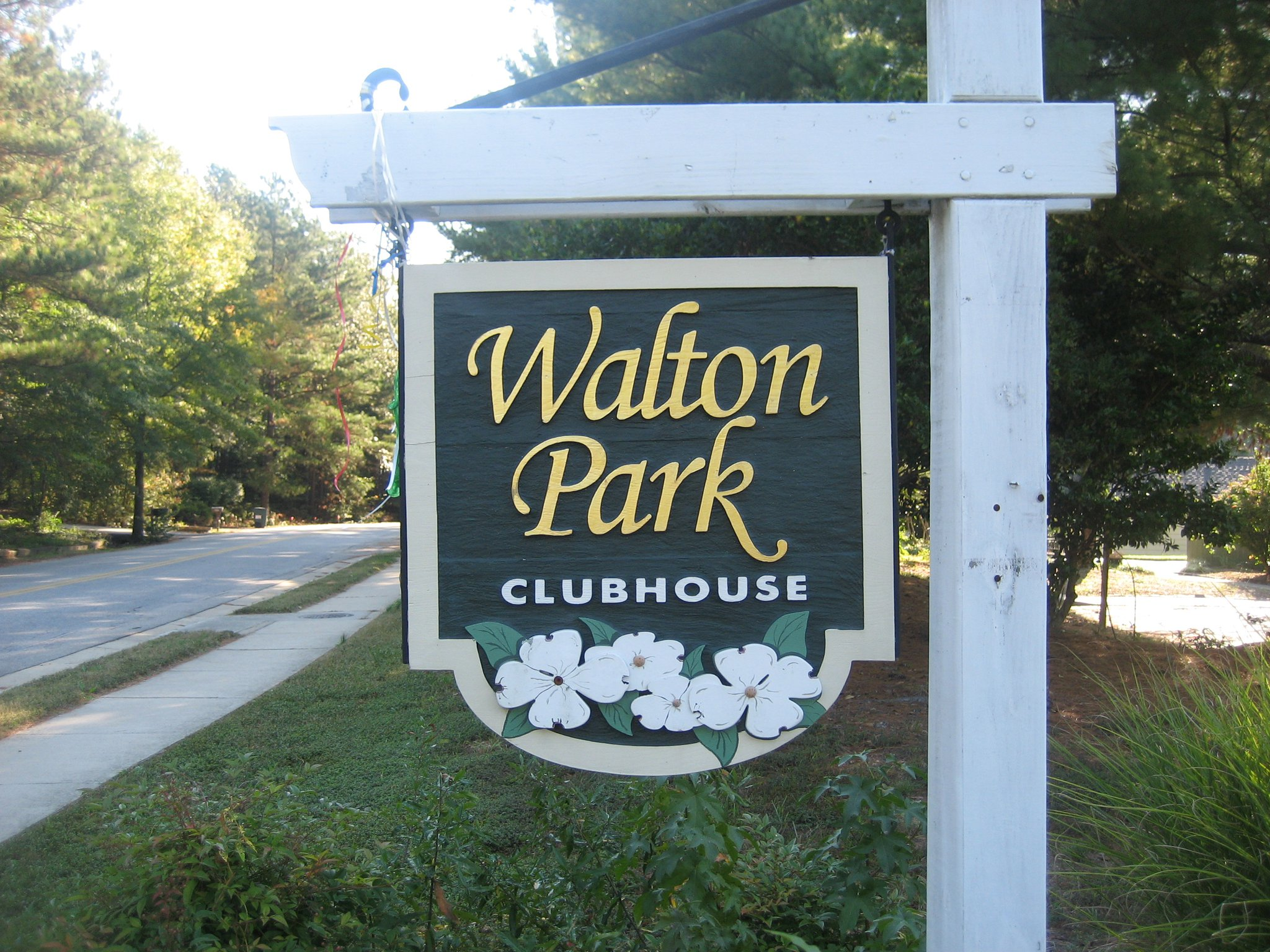 Walton Park Clubhouse Sign