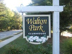 Walton Park Clubhouse Sign