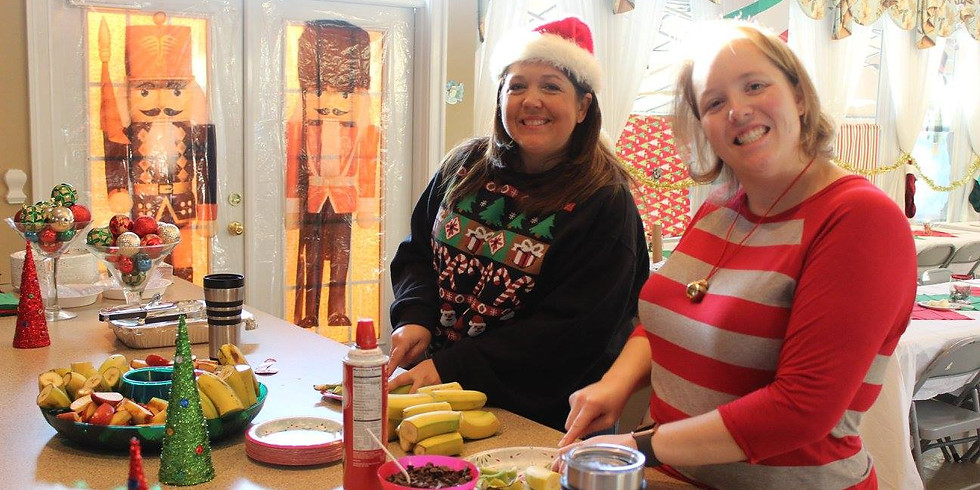 WCWP Tacky Meeting & Santa Breakfast Prep