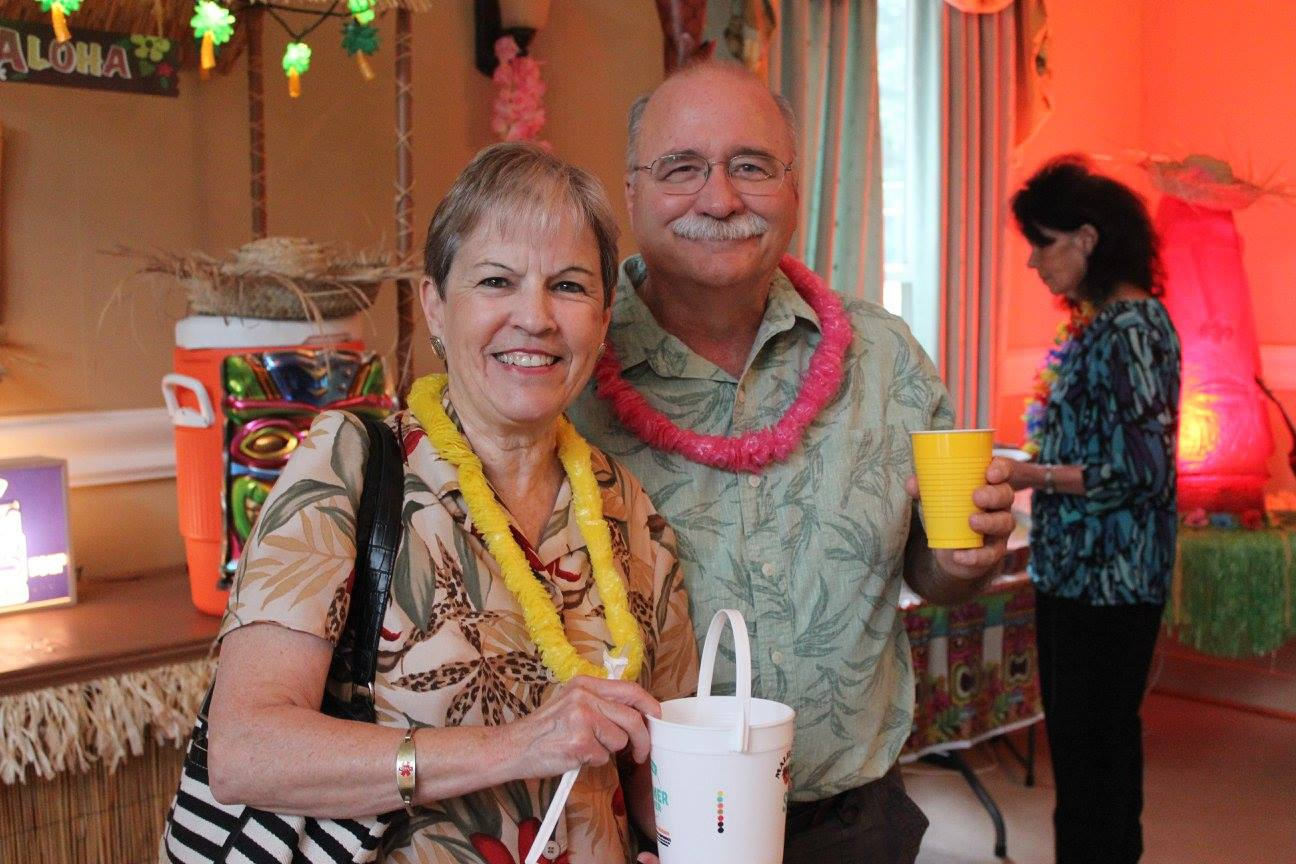 Couple at Luau