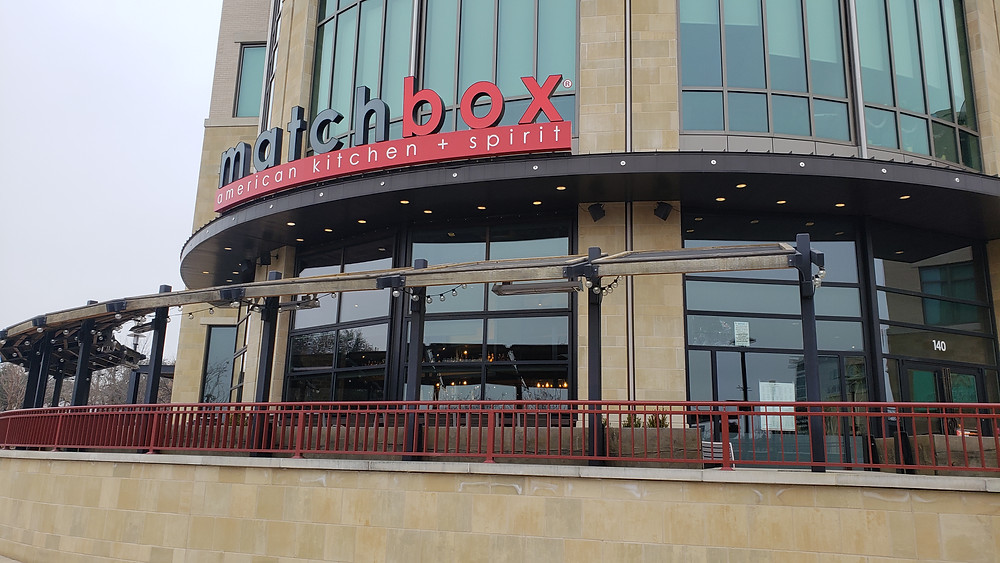 Matchbox is huge! The patio will be great when the weather warms up.