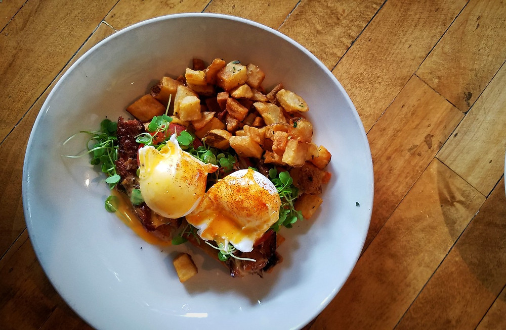 The Pork Belly Benedict is as good as it looks.