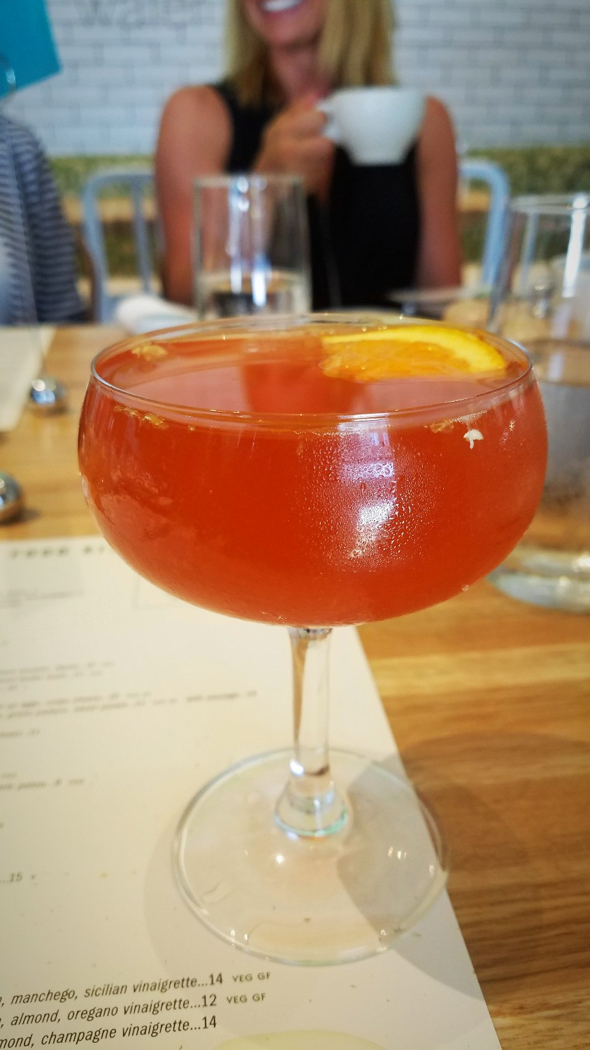 The Cranberry & Pomegranate Mimosa is a pretty looking drink!
