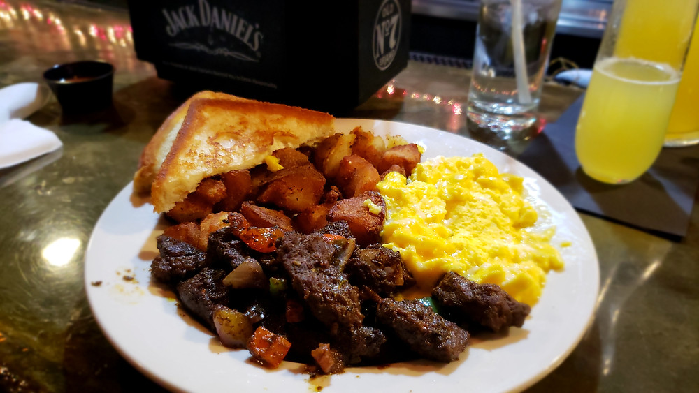 The Jerk Steak & Eggs. Perfection on a plate.