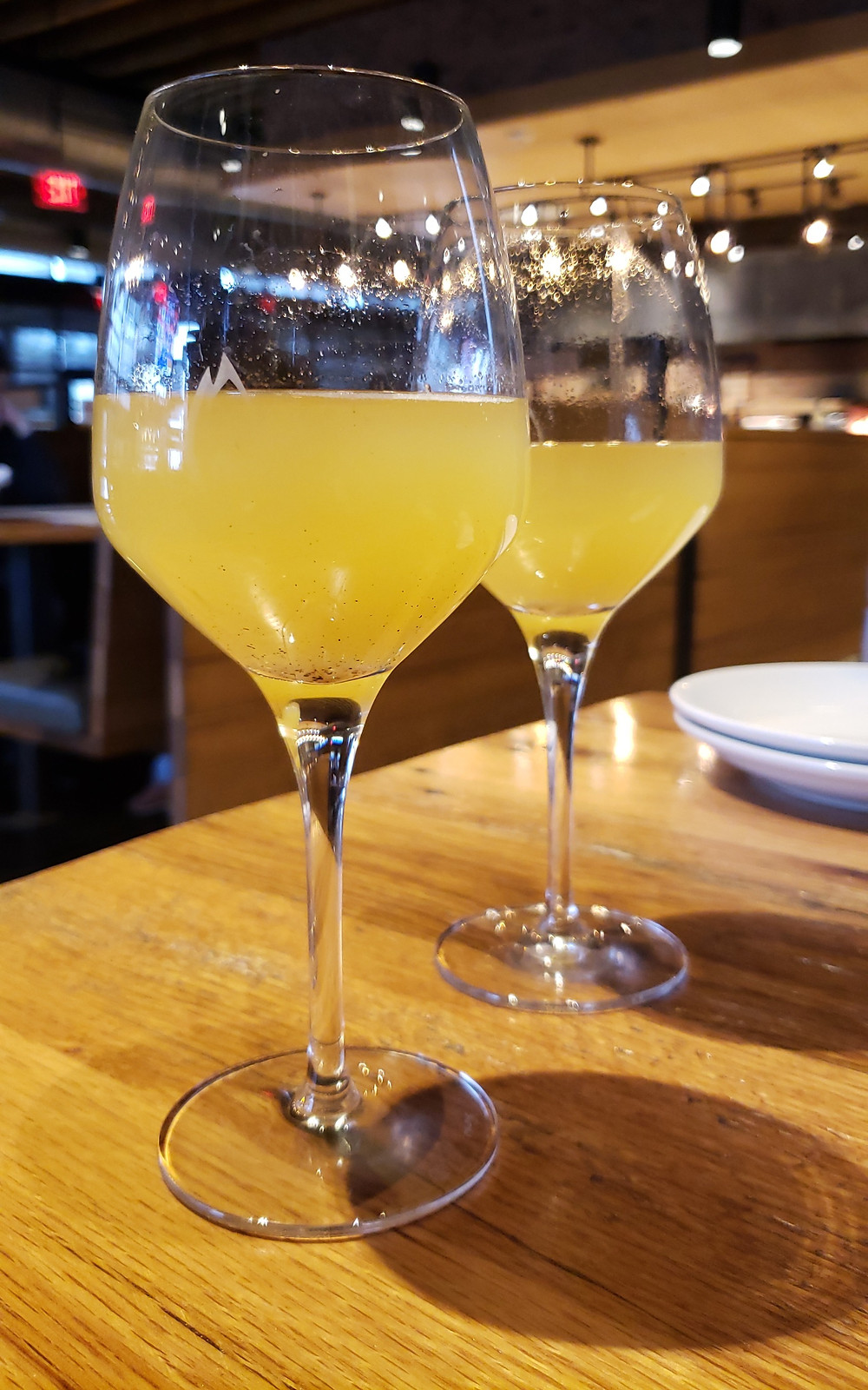 The Pineapple Ginger Mimosas were absolutely delicious.