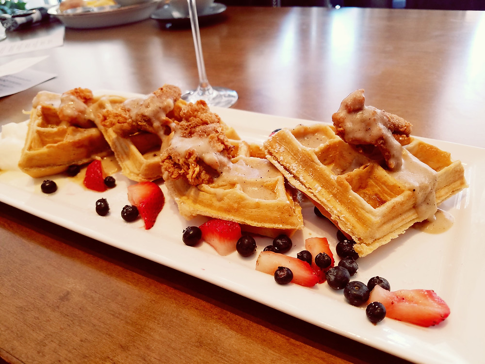 The Chicken Fried Quail and Waffles is beautifully balanced.