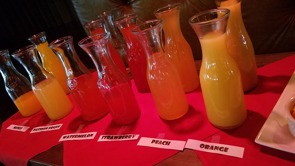 All the juices at the Mimosa Bar!