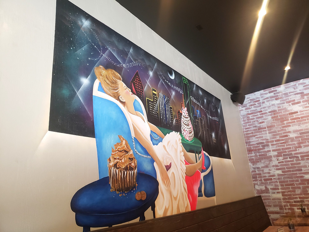 "Love this mural. It screams ""brunch and chill."""