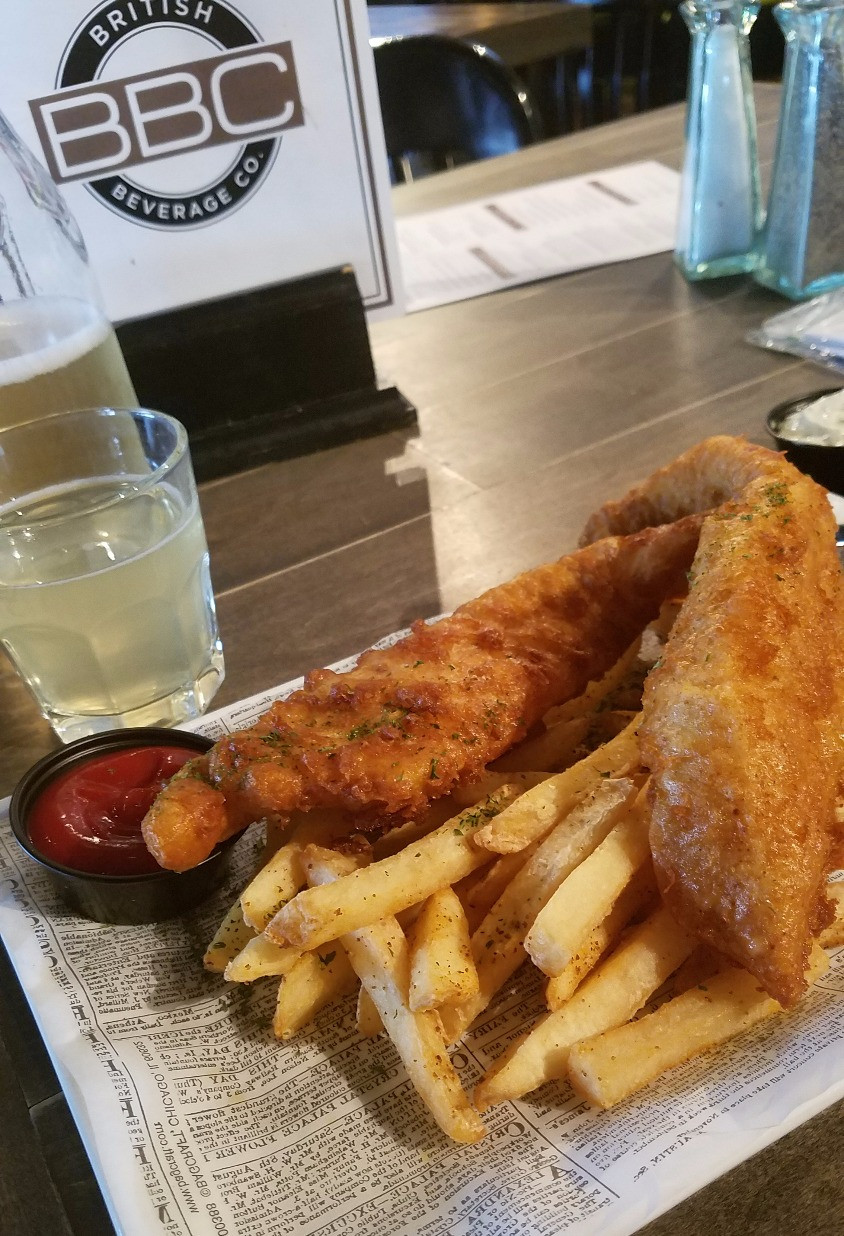 The Fish & Chips is bloody good, mate!