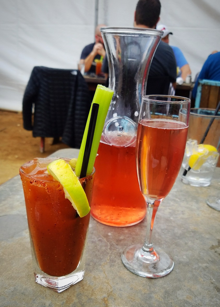 Bloody Mary and mimosa carafe--both great.