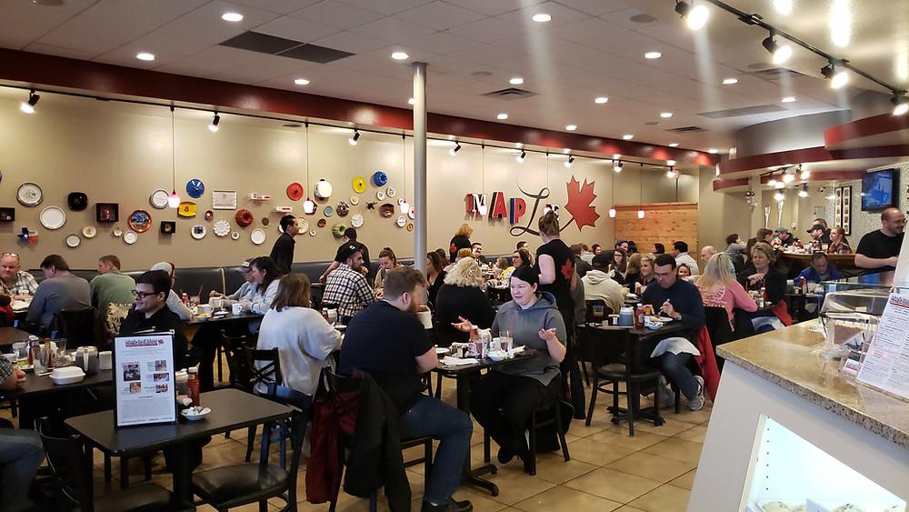 Lots of room for folks at the Maple Leaf Diner