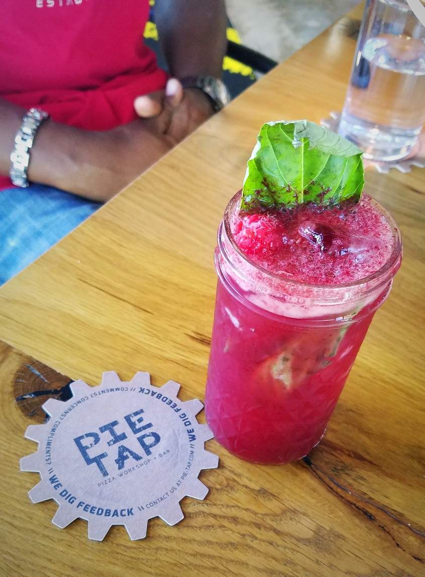 The Raspberry and Basil Mojito is quick refreshing.