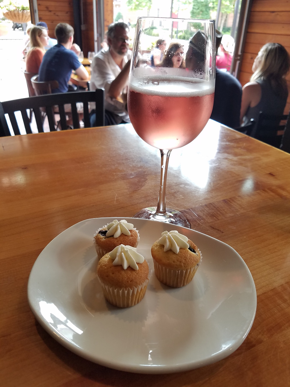 State & Allen offers complimentary mini muffins