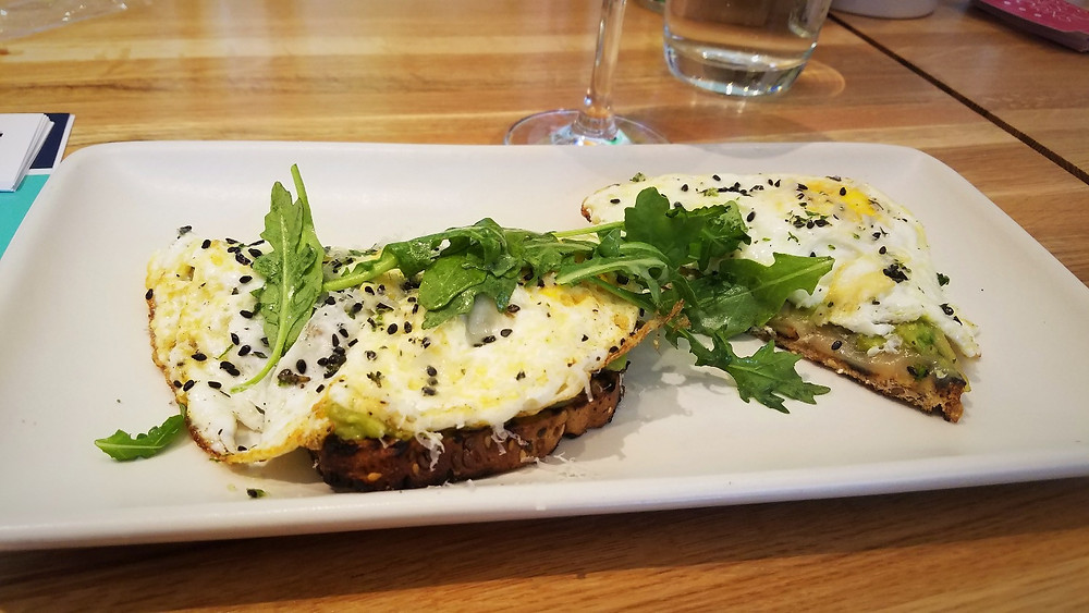 A light brunch option, the Smashed Avocado Toast was delightful.