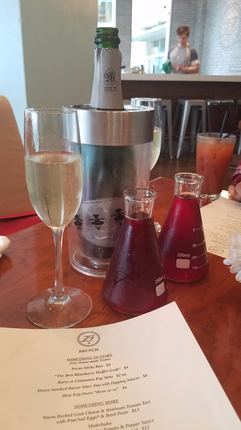 The Sunday Brunch Bottle Service is a nice touch!
