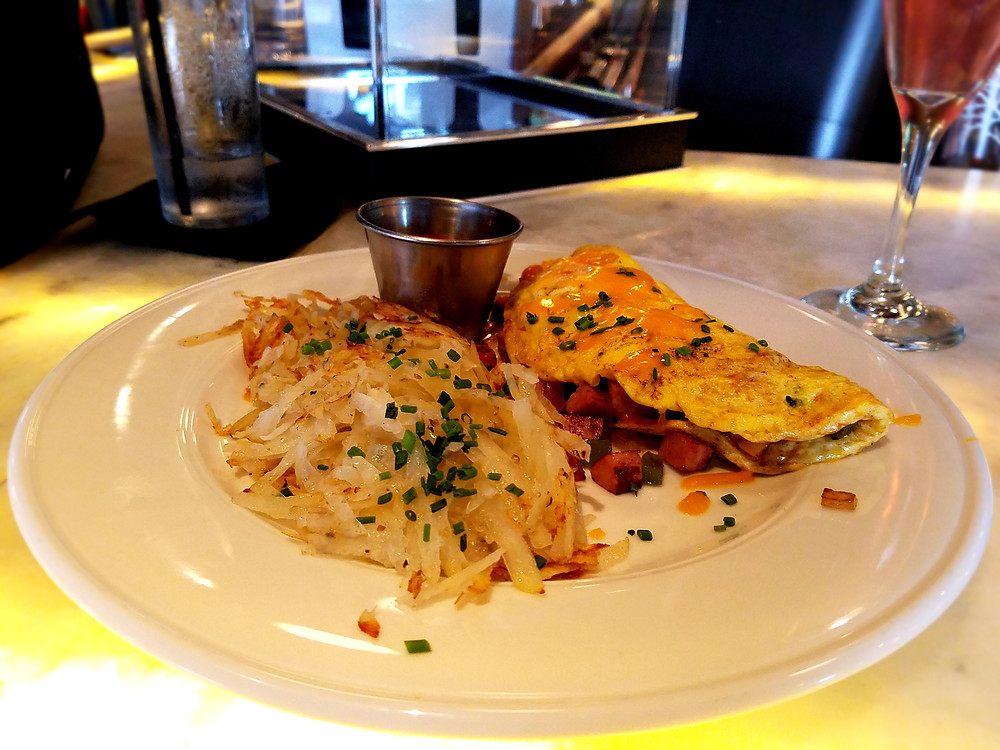 The Denver Omelette is definitely a filling meal.
