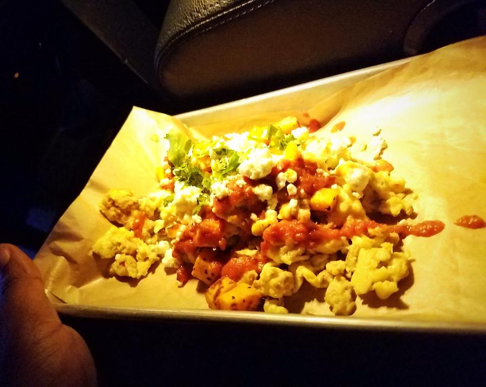 Sweet Potato Chorizo Hash. Good but not enough food.