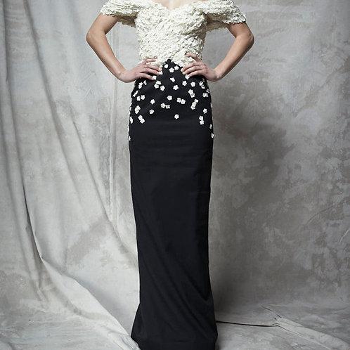 EMBROIDERED FLORETTE DRESS