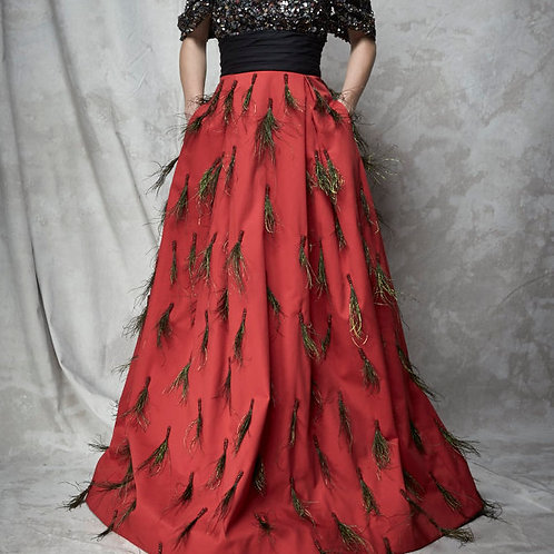 SEQUINED PEACOCK GOWN