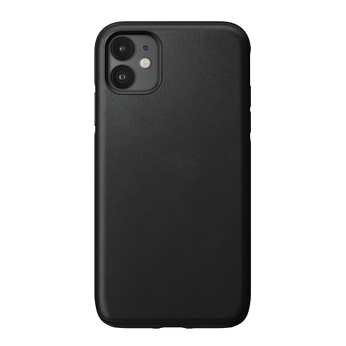 Horween Rugged Case Black Leather iPhone 11
