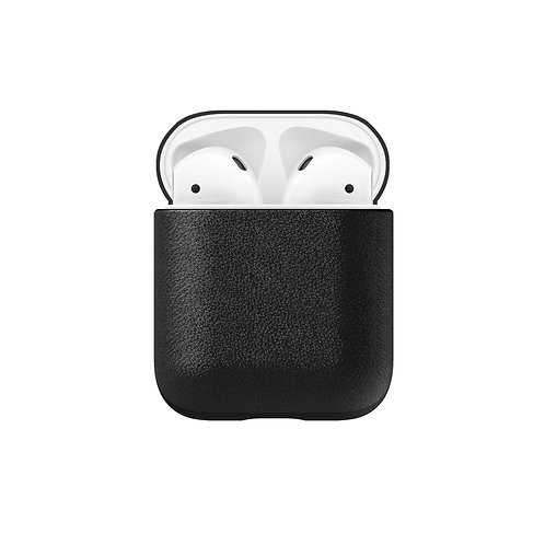 Horween Rugged Case Black Leather Apple AirPods