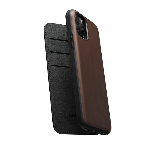 Horween Rugged Folio Case Brown Leather iPhone 11