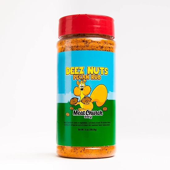 Meat Church Deez Nuts Honey Pecan BBQ Rub 14oz Shaker