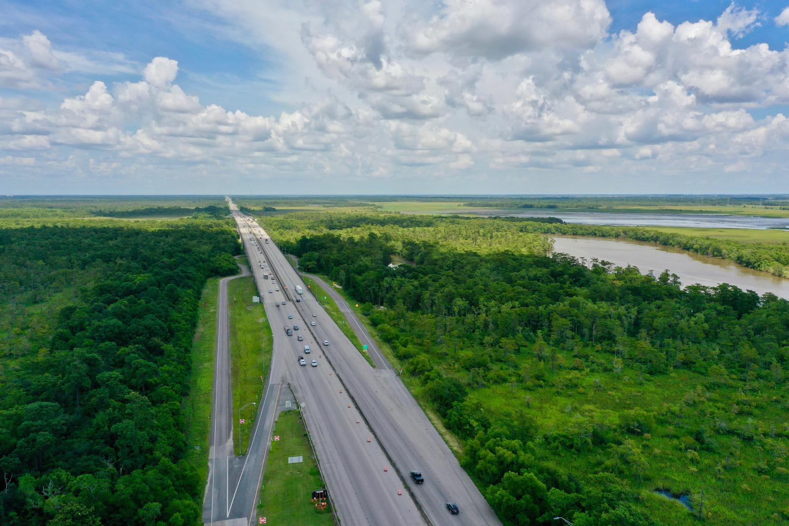 Crossing into Louisiana