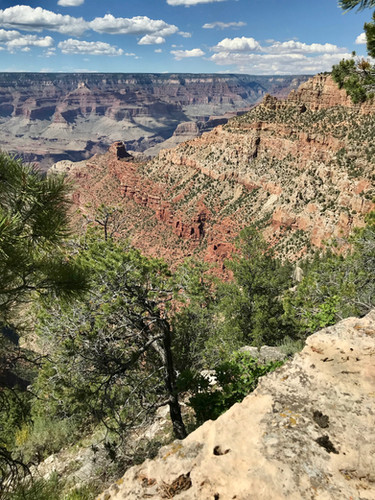 A view across the canyon, from the South Rim.