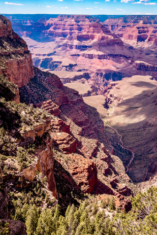 A view of the canyon floor from the South Rim Desert Watch Tower area.
