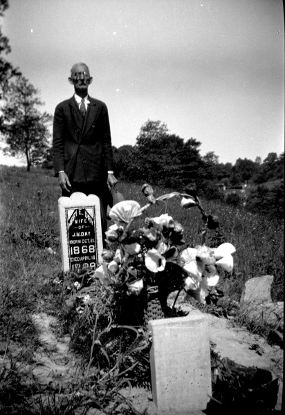 William Day at wife's grave