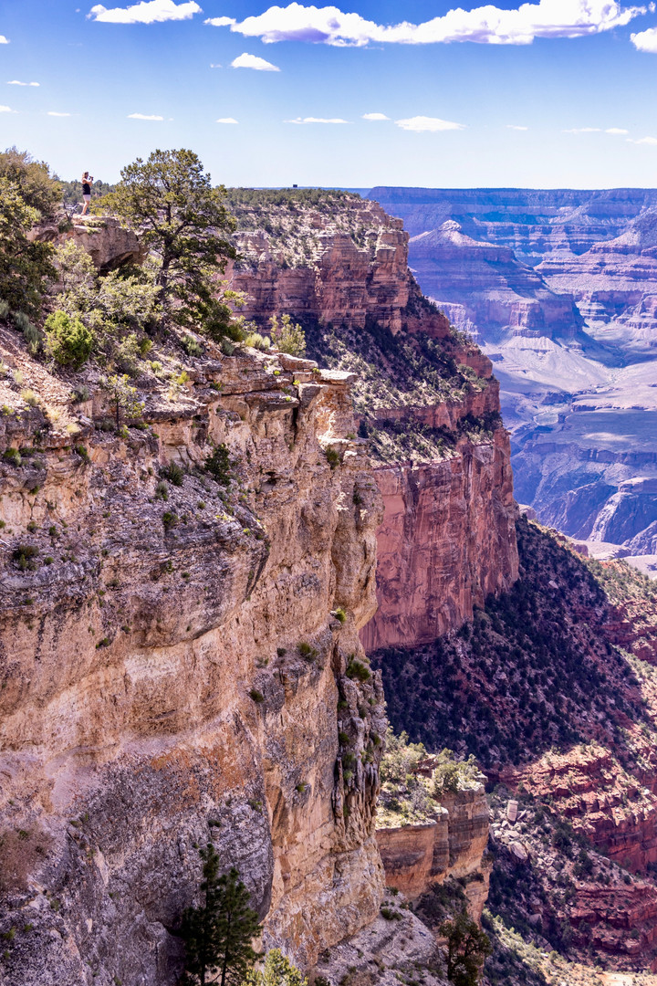 Just a short walk from a parking area on the South Rim. Look closely and you can see Debi in the upper left-hand corner.