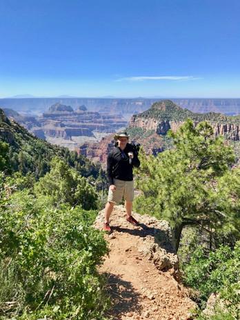 Rock promontory provide breathtaking views.