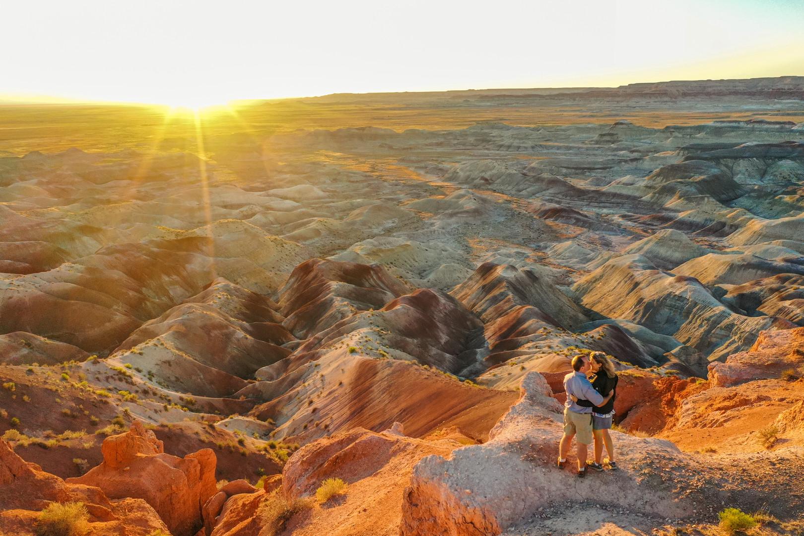 Sunset over the Little Painted Desert