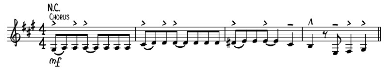 "Written out beginning of the song ""Stand By Your Man"" demonstrates the use of hammer-on technique."
