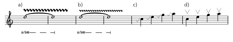 Short examples of the tremolo bar effects.