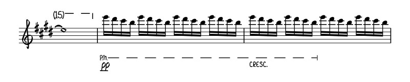 "The guitar intro to the song ""Don't Stop Believing""."