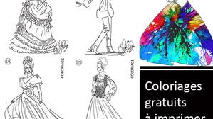 Croquis de mode à peindre ou colorier pour les enfants