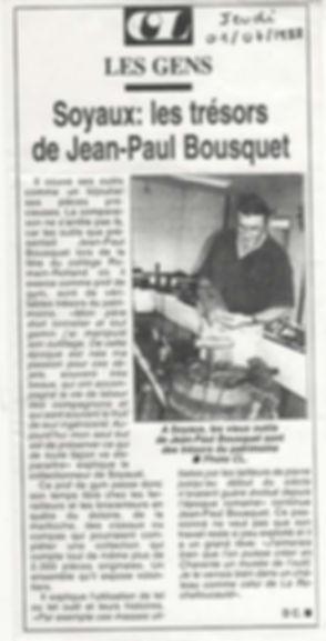 Jean-Paul Bousquet collectionneur d'outils La Charente Libre 1999