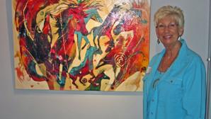 Chevauchée chromatique dans l'oeuvre de Nancy Christy-Moore