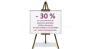 Offre spéciale Noël 2020 : - 30% de remise sur une sélection de peintures